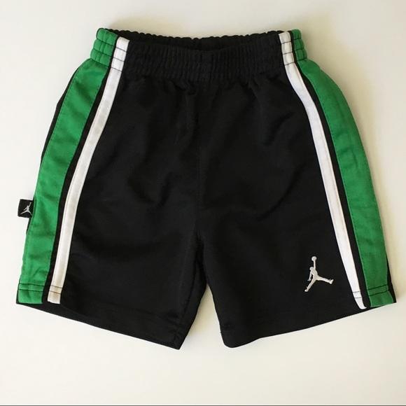 48238e93994 Jordan Bottoms | Air Shorts Size 24 Mo Black Green Trim Boys | Poshmark